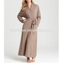 супер мягкий,роскошный и теплый спальный 100% чистый кашемир халат