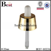 laboratory glass droppers with gold collar, made in china