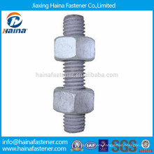 Hot Dip Galvanised all threaded rod with hex nut