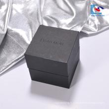 En gros impression De Luxe noir en carton montre cadeau emballage boîte de papier