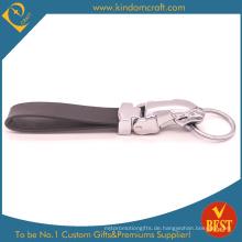 China Hochwertige spezielle Design Echtleder Schlüsselanhänger oder Ring zum Fabrikpreis