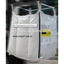 PP woven bulk bag super sack with rope and lifting belt