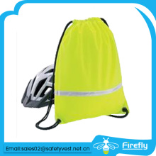 Reflective safety drawstring garbage bag