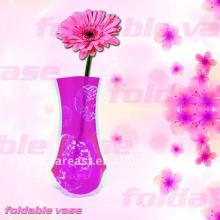 folding plastic flower vase