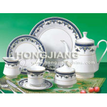 Juego de té 24 piezas (0051 # AZUL)