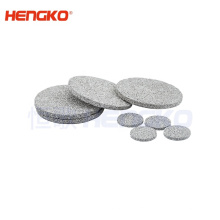 Sintered porous metal filter disc, cup, tube, plate and other assemblies for particles removal and flow control