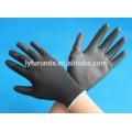 Anti statique noir PU revêtu des gants en nylon fabriqué en Chine