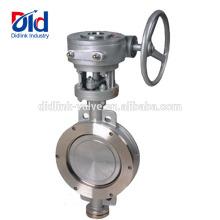 API 609 4-Zoll-Getriebe Ebro-Flansch Preis Edelstahl-Wafer-Typ 3-fach abgesetzte Absperrklappe