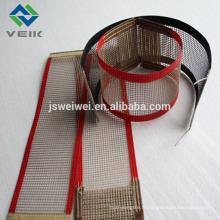 Ceinture de maille d'écran de PTFE avec le tissu de fibre de verre de 10 * 10mm coté avec ptfe