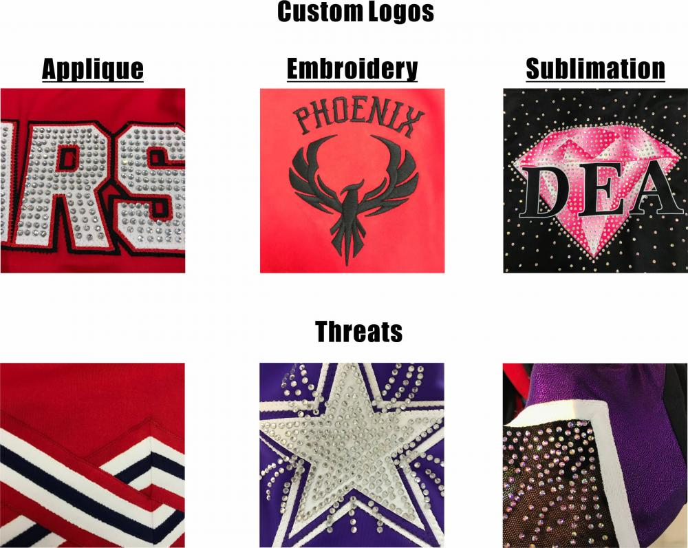 glitter stars cheer uniforms