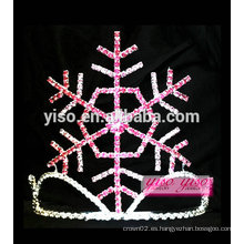 Joyería del pelo de la manera del invierno cristalino simple del copo de nieve embroma tiaras