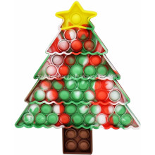 Juguetes de escritorio de árbol de Navidad de silicona pionero de rodenticida