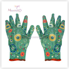 13gauge Nitrile Palm Coated/Dipped Polyester Women Garden Work Safety Gloves