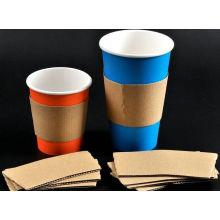 Manchon de couleur marron pour tasse de café chaud résistant à la chaleur