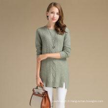 Restez chaud femmes hiver pull en laine et en cachemire avec motif losange