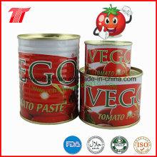 400 g de pasta de tomate orgánica enlatada de la marca Vego