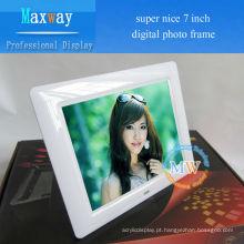 vídeo, imagem, música, MP3 MP4 multifunções LCD moldura digital 7 polegadas