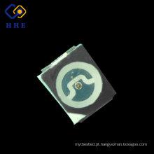 Preto de superfície diodo emissor de luz alto da cor vermelha 3528 SMD da microplaqueta de Sanan dos lúmens 0.06 W