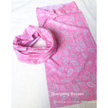 OEM Produce Customized Logo Printed Pink Paisley Multifunctional Buff Headwear