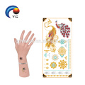 Tribe Fake Body Art Boho Metallic Gold Tattoo Sticker