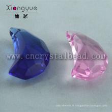 20mm couleurs lune forme face Perles cristal