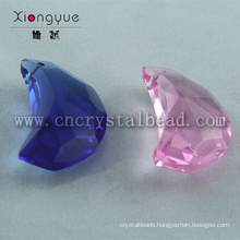20mm Colors Moon Shape Faced Crystal Beads