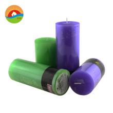 Custom multi color european rod wax pillar candle for christmas party