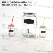 Питьевые банки Mason Jars с крышками и ручками Vintage Jar Glasses