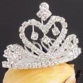 Оптовые аксессуары для волос посеребренные кристалл тиара волосы заколки поставок