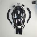 Máscara de snorkel para rosto inteiro com vista de 180 graus