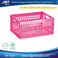 Plastic vegetable crate injection crate mold
