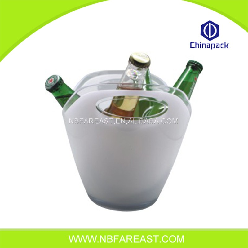 Multifunctional cheap promotional small round ice bucket