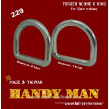 229-75 Гальванизированная кованая сталь круглая D кольцо