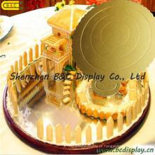 6 placas redondas da bandeja / bolo do bolo do papel ondulado de uma polegada / FDA para bolos de aniversário (B & C-K052)