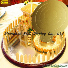 6-дюймовый круглый гофрированная бумага торт лоток/торт доски/FDA для тортов (B и C-K052)