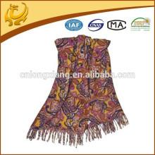 Style turc en gros usine bas MOQ 100% laine en laine de pashmina en gros avec Tassel