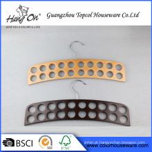 Cabide de madeira de alta qualidade para gravata/correia