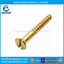 Brass Slotted Countersunk Head(CSK) Wood Screw