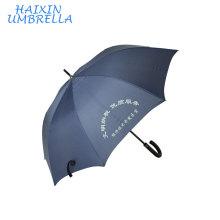 Proveedor Китай рекламные сильной товара Вал Дж ручки темно-синий прямой зонтик гольфа с Логосом печатания китайский Поставщик