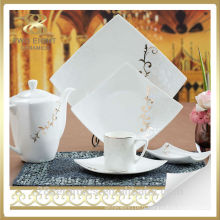 Vaisselle en porcelaine royale en gros, assiette en céramique