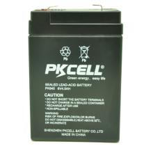 Pkcell chumbo ácido 6 v 4.5ah bateria