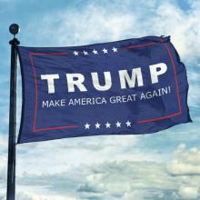 Retail Advertising Equipment Donald Trump Stick Flag