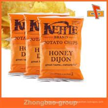 Guangzhou fabricante atacado por atacado batatas fritas embalagem saco / saco de embalagem de plástico para chips / snacks
