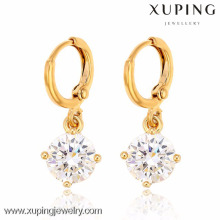 28109-Xuping Bridal jewelry different size drop earring with white stone