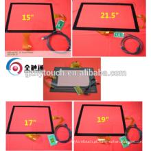 15 '' Tamanho da tela e tipo PCAP 15 17 19 polegadas capacitiva Multi Touch Screen