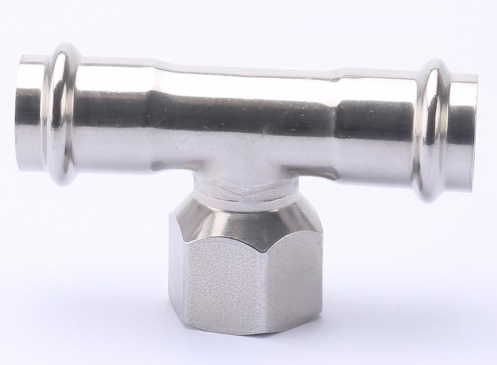 V Profile Female Tee Pipe Press Fitting