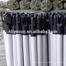 Personalizado de PVC redonda de PVC recubiertos de escoba y mango de cepillo
