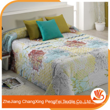 Low price custom printed bed cover fabric design for home textile