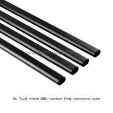 Hitzebeständige 3K Full Carbon Fibre Octagon Rohre oder Rohre