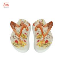 Custom EVA 3D printing Flip Flops slipper heat transfer print stickers Labels Logo flim for Plastic